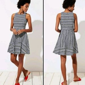 Loft Fit and Flare  Dress